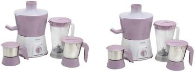 PHILIPS 2rew HL7581 pack of 2 600 Juicer Mixer Grinder (6 Jars, Pink)
