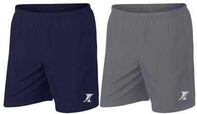 INDICLUB Solid Men Blue, Grey Basic Shorts