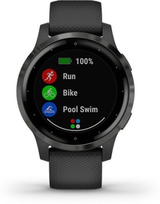 Garmin VIVOACTIVE 4S 40mm, Black/Slate Smartwatch(Black Strap, m)