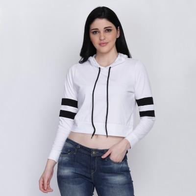VERO LIE Casual Full Sleeve Color Block Women White, Black Top