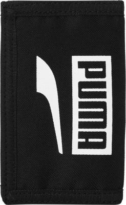 PUMA Men Black Jute Wallet 4 Card Slots PUMA Wallets