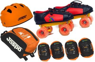 Jaspo Velocity Intact Shoe Skates Combo Foot length 19.0 cms Size : 12 UK ( Age group 5-6 years) Skating Kit