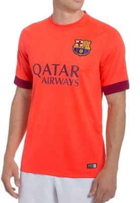 Navex Navex Football Jersey Club Barcelona Orange Short Sleeve Ket L Football Kit
