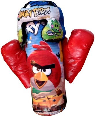 Angry Birds Boxing Set Toy Punching Bag Gloves Gift Kids Toys(Blue)