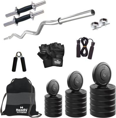 b5be41b9677 Headly 40 kg Combo BB 3 Convenient Home Gym Kit