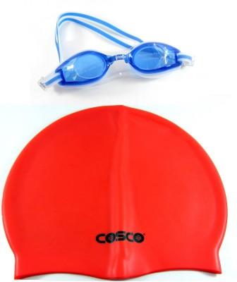 Cosco Swimming Goggles AquaDash    Cap Pro Combo Swimming Kit
