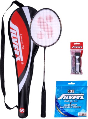 Silver's Contact Badminton Kit(1 Racquet with Cover, 1 PVC Grip and 10 m 0.80 mm String) at flipkart