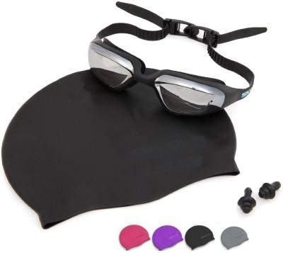Xerobic Premium Set for Men   Women with Cap that keeps long hair dry Swimming Kit