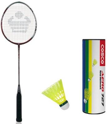 Cosco Cbx 450 With Aero 727 Nylon Shuttlecock Badminton Kit Cosco Badminton Kits