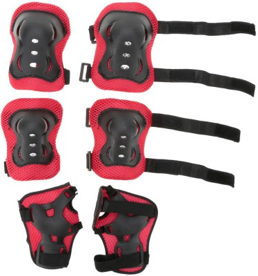 Hoteon kids red protective clothing with elbow pads,wrist pads,knee pads Skating Kit