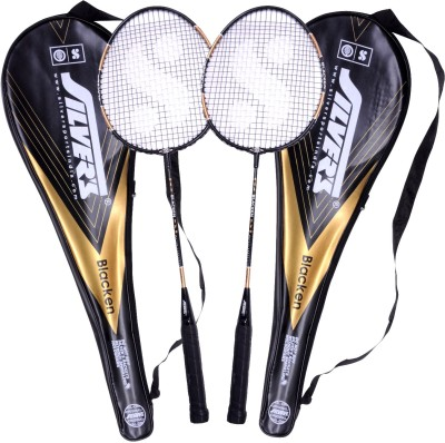 Silver's Blacken Badminton Kit(2 Racquets with Cover)  available at flipkart for Rs.465