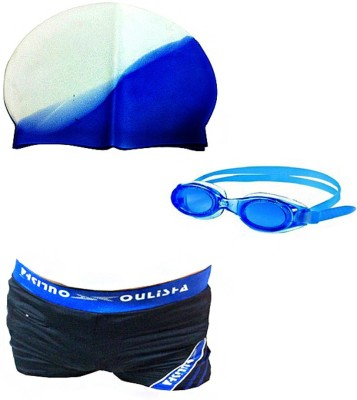 Vinto Swimming Combo 1 Cap, 1 Goggles, 1 Free size Male Coutume Swimming Kit