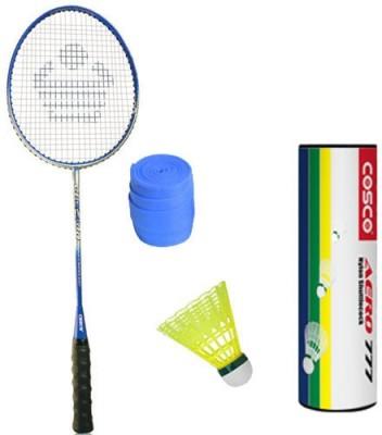 COSCO Cbx 400 With Aero 777 Nylon Shuttlecock And 1 Grip Badminton Kit COSCO Badminton Kits