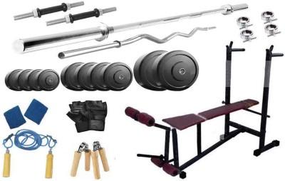 Protoner 100 Kgs   6 In 1 Bench Home Gym Kit