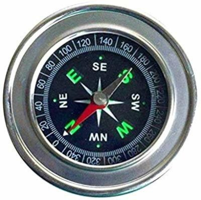Psb Stainless Steel Directional Pocket Magnetic Compass Compass(Multicolor)
