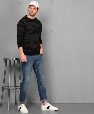 METRONAUT Self Design Round Neck Casual Men Multicolor Sweater
