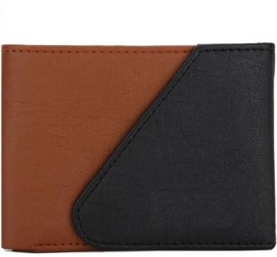 Secritas Men Black, Brown Artificial Leather Wallet 3 Card Slots