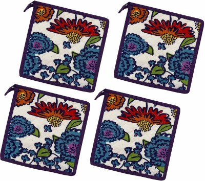 Miyanbazaz White, Multicolor Cotton Kitchen Linen Set(Pack of 4) at flipkart