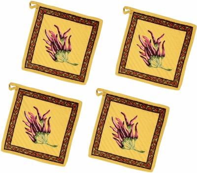 Miyan Bazaz Yellow Cotton Kitchen Linen Set(Pack of 4) at flipkart