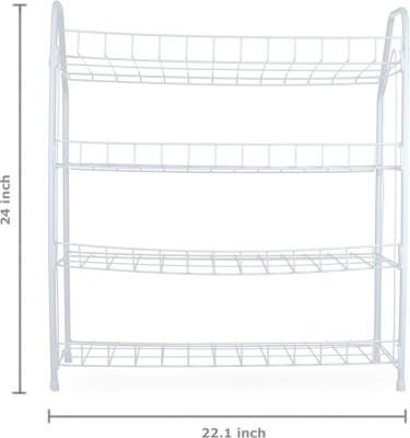 Pearl Folding Rack Kitchen Steel Kitchen Rack(White)