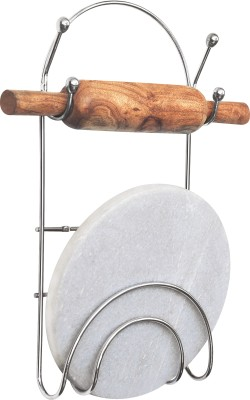 Eoan International Chakla Belan Stand Stainless Steel Kitchen Rack(Silver)  available at flipkart for Rs.285