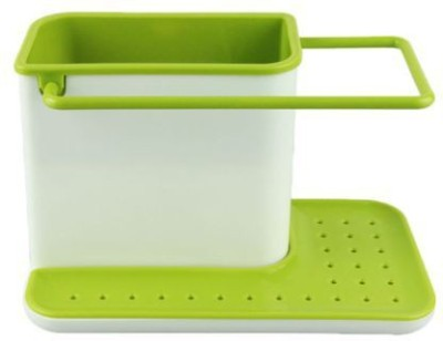 Kartsasta 3 in 1 Daily Use Kitchen Stand Plastic Kitchen Rack(Green, White) at flipkart