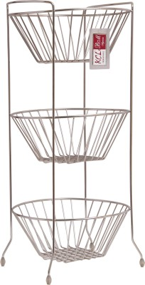 KCL Stainless Steel Kitchen Rack(Silver) at flipkart