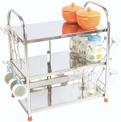 Amol Kitchen Rack Stand Stainless Steel Kitchen Rack(Silver) at flipkart