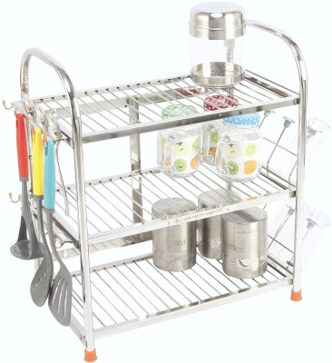 Amol Kitchen Rack Stainless Steel Kitchen Rack(Silver) at flipkart