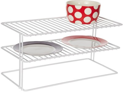Howards Large Double Shelf Helper Steel Kitchen Rack(White)