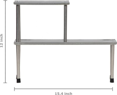 Pearl Multifunction Rack Steel Kitchen Rack(Grey)