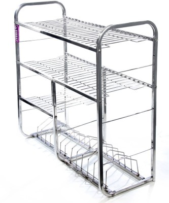 Royal Sapphire Stainless Steel Kitchen Rack(Silver) at flipkart