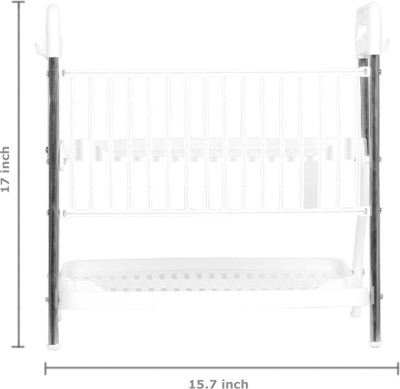 Pearl Kitchen Rack Steel Kitchen Rack(White)