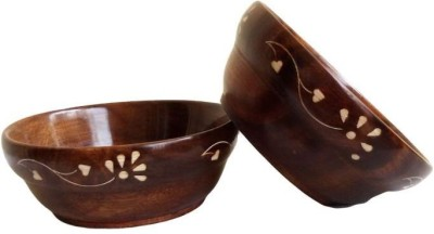 Onlineshoppee Wooden Sauce Bowl Brown, Pack of 2