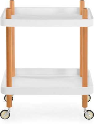 @home by Nilkamal Prima Wooden Kitchen Trolley at flipkart