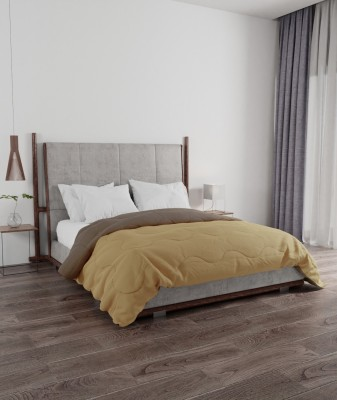 PORTICO NEW YORK Solid Double Comforter(Microfiber, Yellow, Brown)