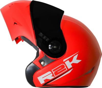 Steelbird R2K OSKA Reflective ISI Certified Flip Up Helmet Dashing Red Motorbike Helmet(Red with Smoke Visor)