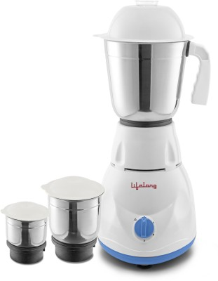 Lifelong Power Pro - LLMG20 500 W Mixer Grinder(Blue, 3 Jars)