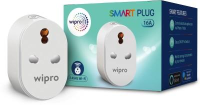 Wipro Wi-Fi Smart Plug with Universal Socket (White) Smart Plug (White) Smart...