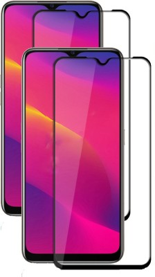 Fovtyline Edge To Edge Tempered Glass for Oppo A5 2020(Pack of 2)