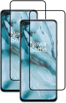 Fovtyline Edge To Edge Tempered Glass for OnePlus Nord(Pack of 2)