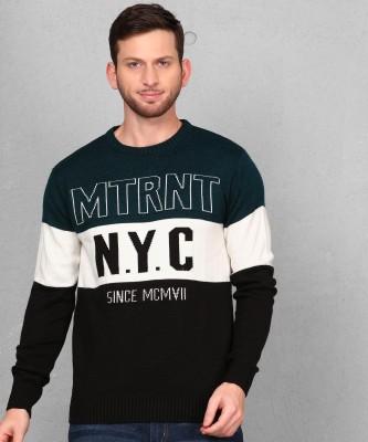 METRONAUT Graphic Print Round Neck Casual Men Multicolor Sweater