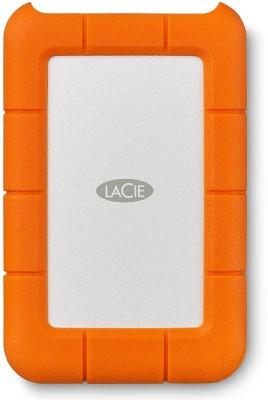 Lacie 2 TB External Hard Disk Drive(White, Orange)