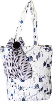 Bagwati tote Multipurpose Bag White, 5 L Bagwati Luggage   Travel