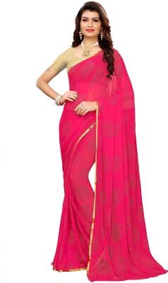 Ratnavati Woven, Embellished Daily Wear Chiffon Saree(Pink)