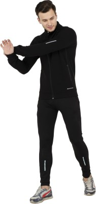 aarmy fit Solid Men Track Suit