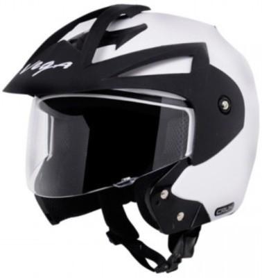VEGA Crux OF (Open Face) Motorbike Helmet(White)