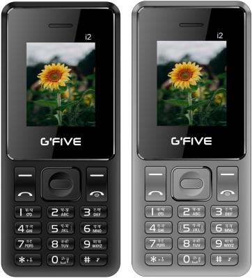 GFive i2 Combo of Two Mobiles(Black : Grey)