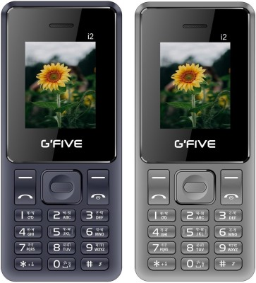 GFive i2 Combo of Two Mobiles(Dark Blue : Grey)