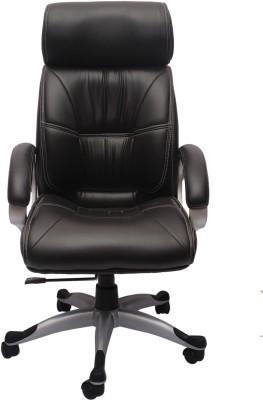 Flipkart Perfect Homes Leatherette Office Arm Chair(Black)